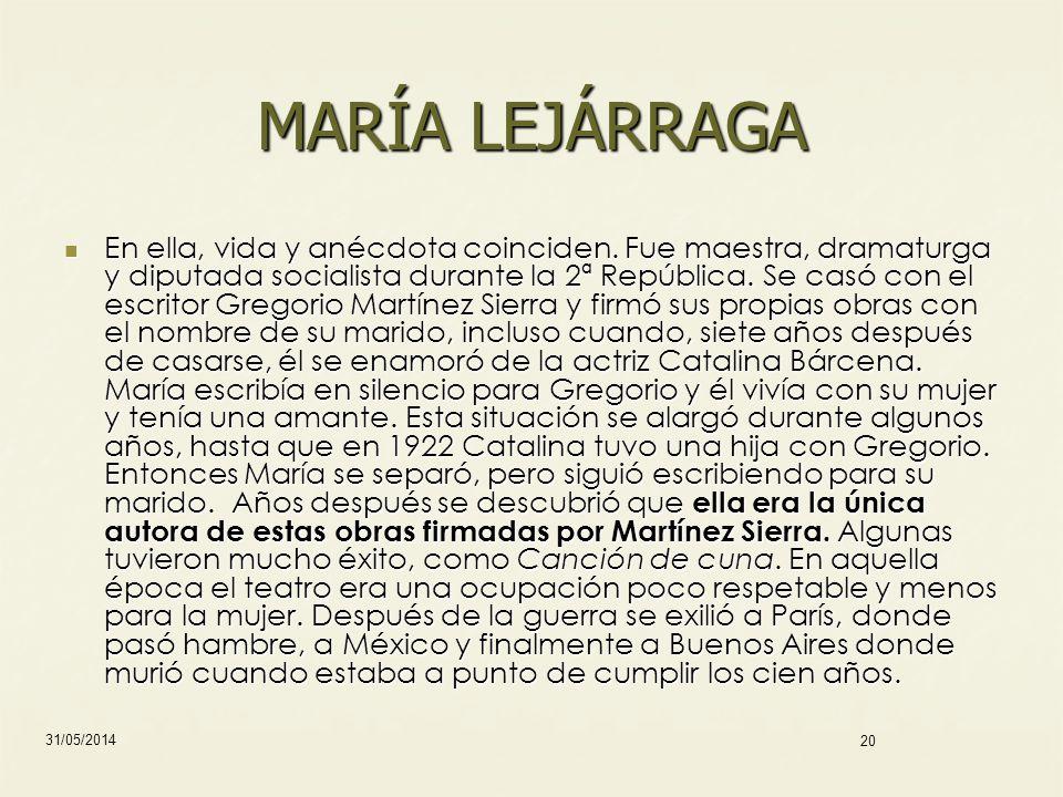 MARÍA LEJÁRRAGA