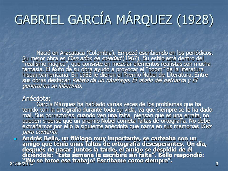 GABRIEL GARCÍA MÁRQUEZ (1928)