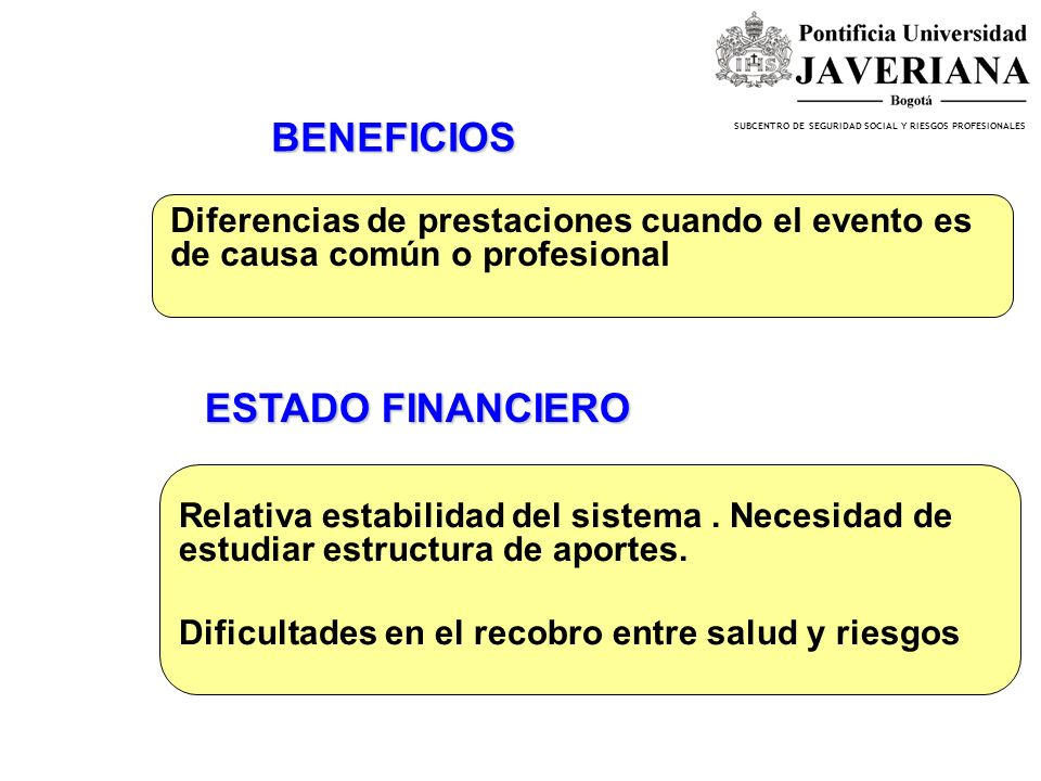 BENEFICIOS ESTADO FINANCIERO