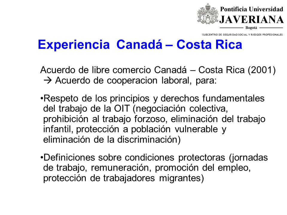 Experiencia Canadá – Costa Rica