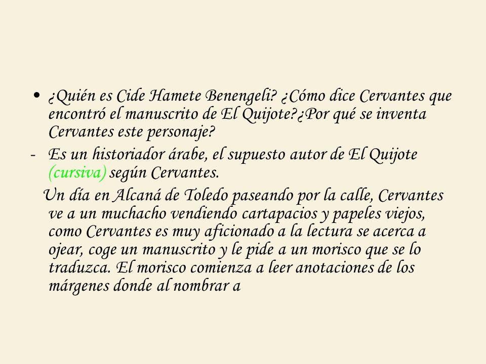 ¿Quién es Cide Hamete Benengeli