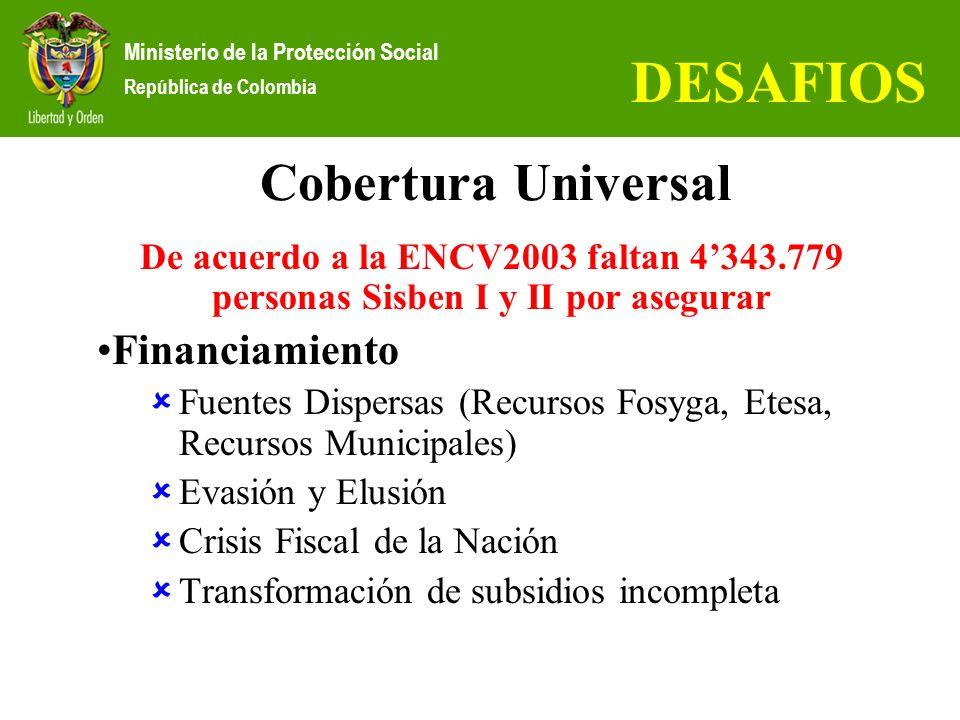 DESAFIOS Cobertura Universal Financiamiento