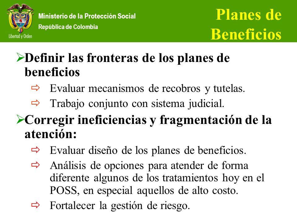 Planes de Beneficios Definir las fronteras de los planes de beneficios