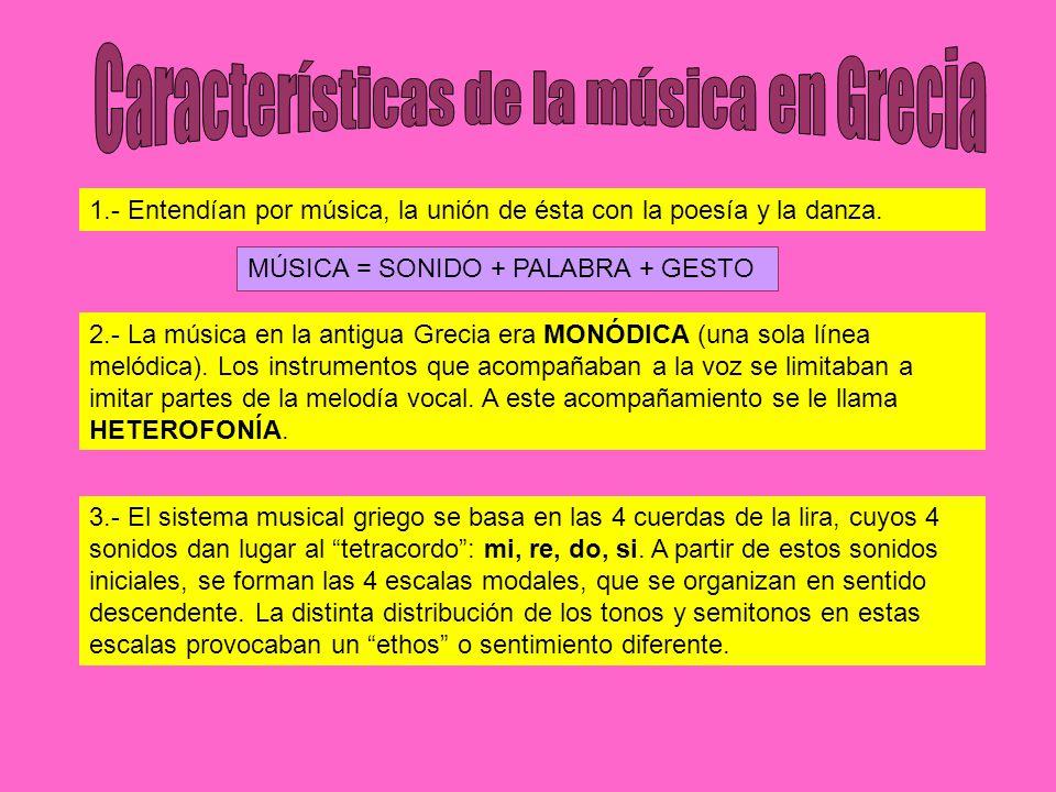 Características de la música en Grecia