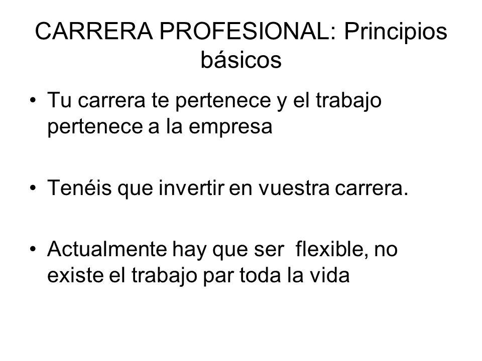 CARRERA PROFESIONAL: Principios básicos