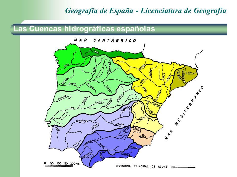 Las Cuencas hidrográficas españolas