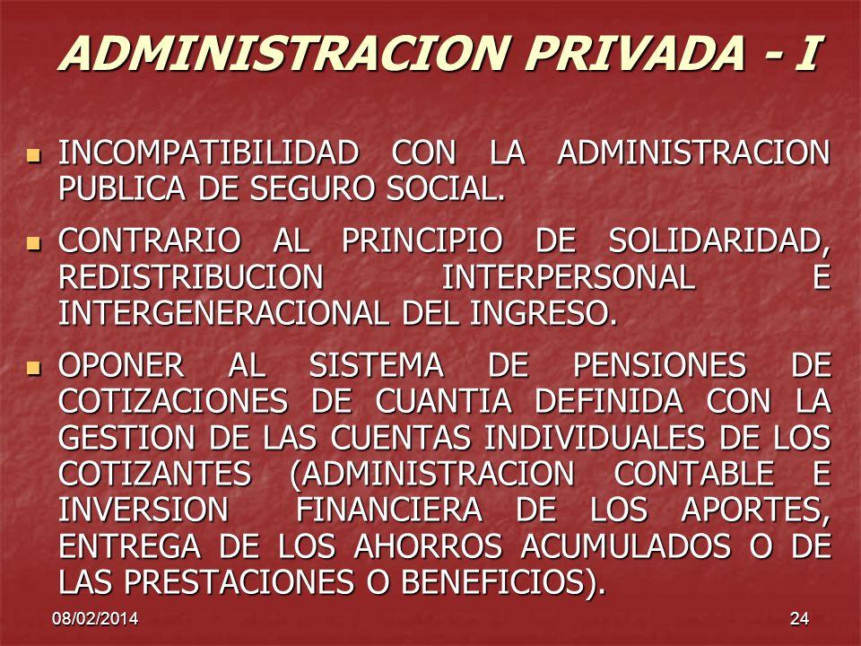 ADMINISTRACION PRIVADA - I