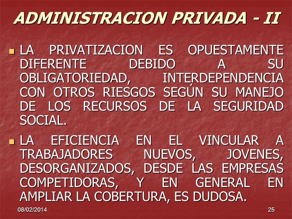 ADMINISTRACION PRIVADA - II