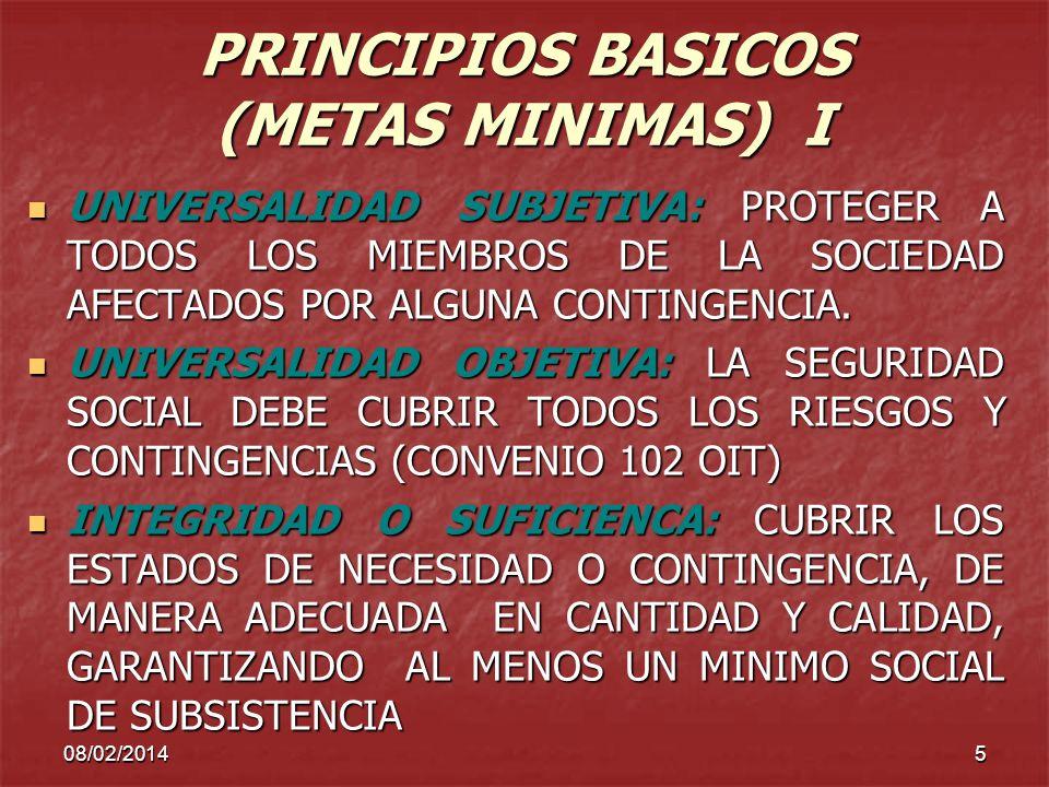 PRINCIPIOS BASICOS (METAS MINIMAS) I
