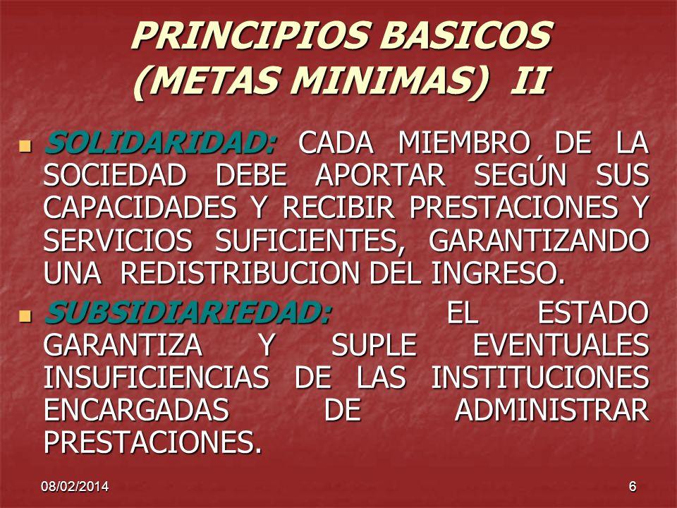 PRINCIPIOS BASICOS (METAS MINIMAS) II