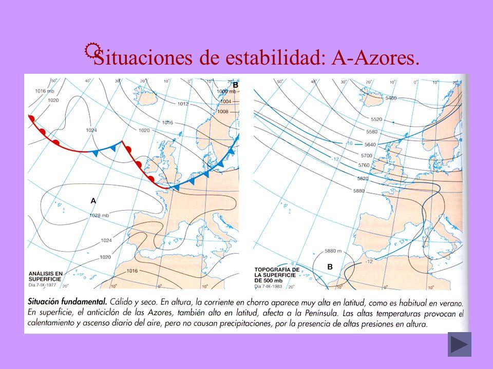 Situaciones de estabilidad: A-Azores.