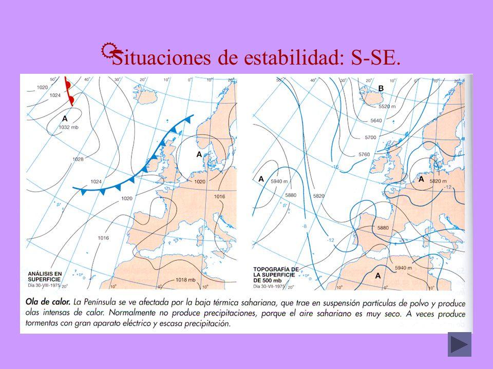 Situaciones de estabilidad: S-SE.
