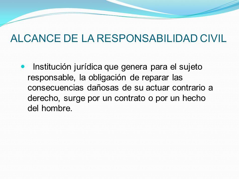 ALCANCE DE LA RESPONSABILIDAD CIVIL