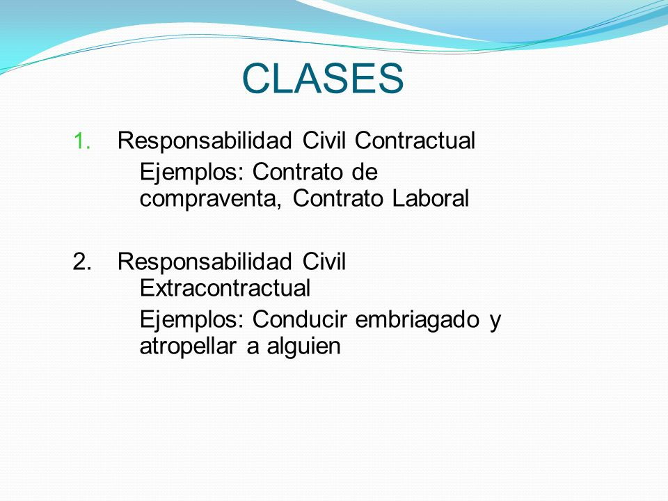CLASES Responsabilidad Civil Contractual
