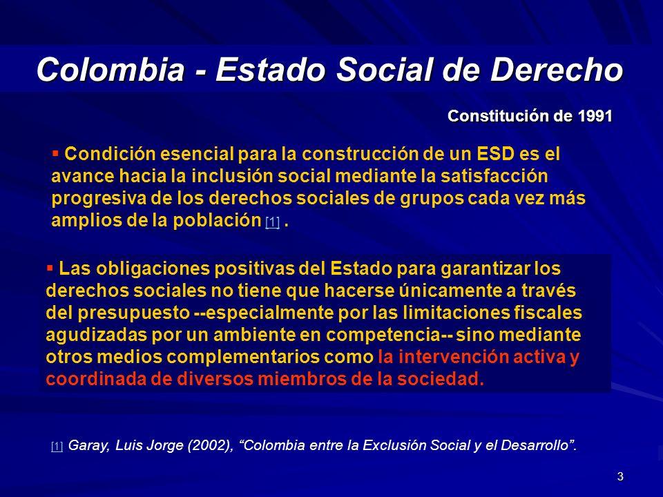 Colombia - Estado Social de Derecho