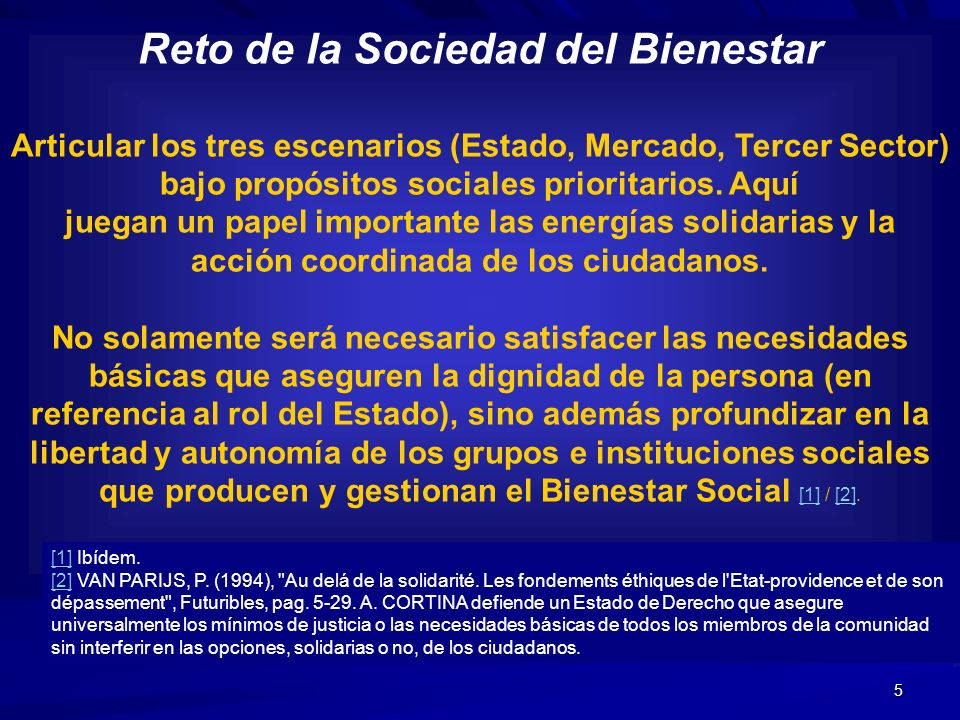 Reto de la Sociedad del Bienestar acción coordinada de los ciudadanos.