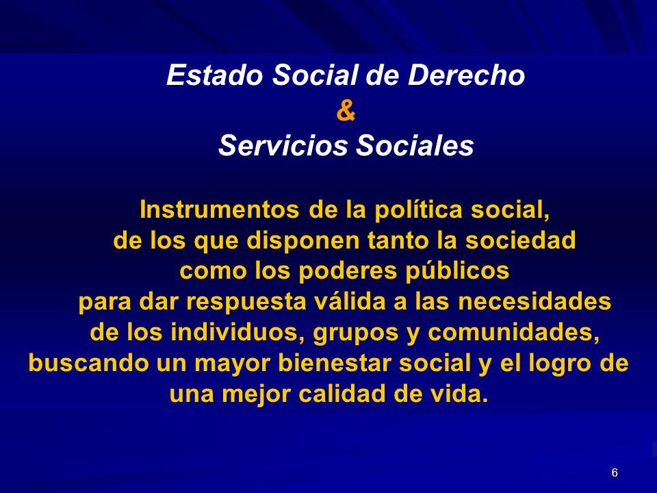 Estado Social de Derecho & Servicios Sociales