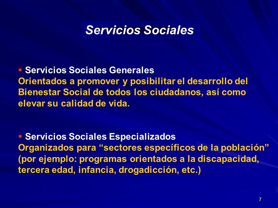 Servicios Sociales Servicios Sociales Generales