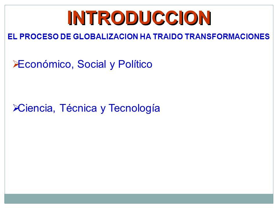 INTRODUCCION Económico, Social y Político