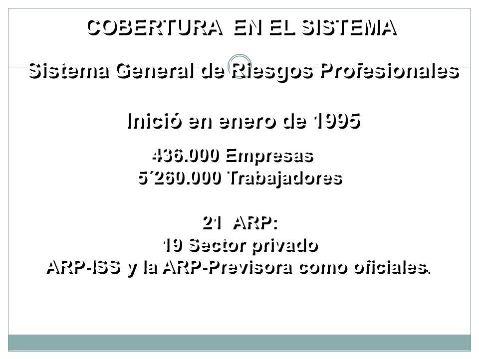 ARP-ISS y la ARP-Previsora como oficiales.