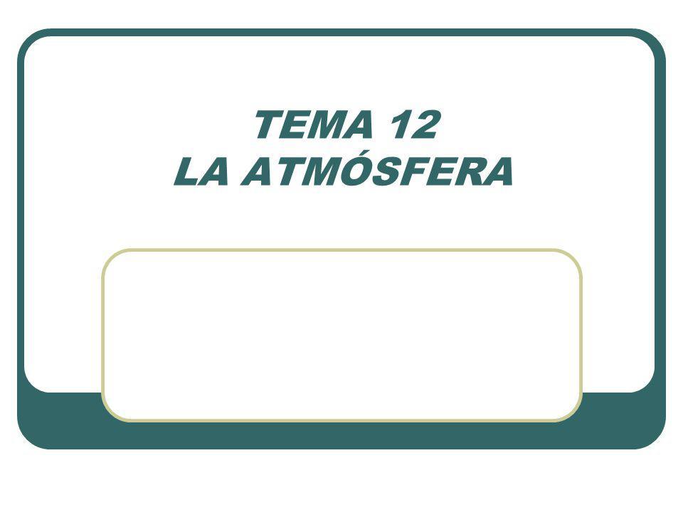 TEMA 12 LA ATMÓSFERA