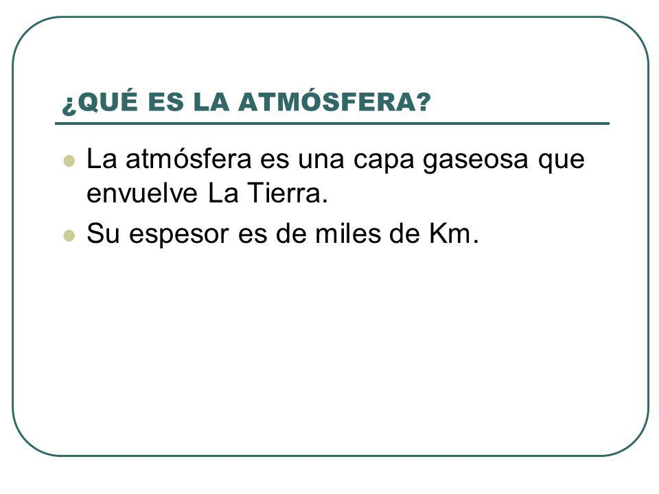 La atmósfera es una capa gaseosa que envuelve La Tierra.