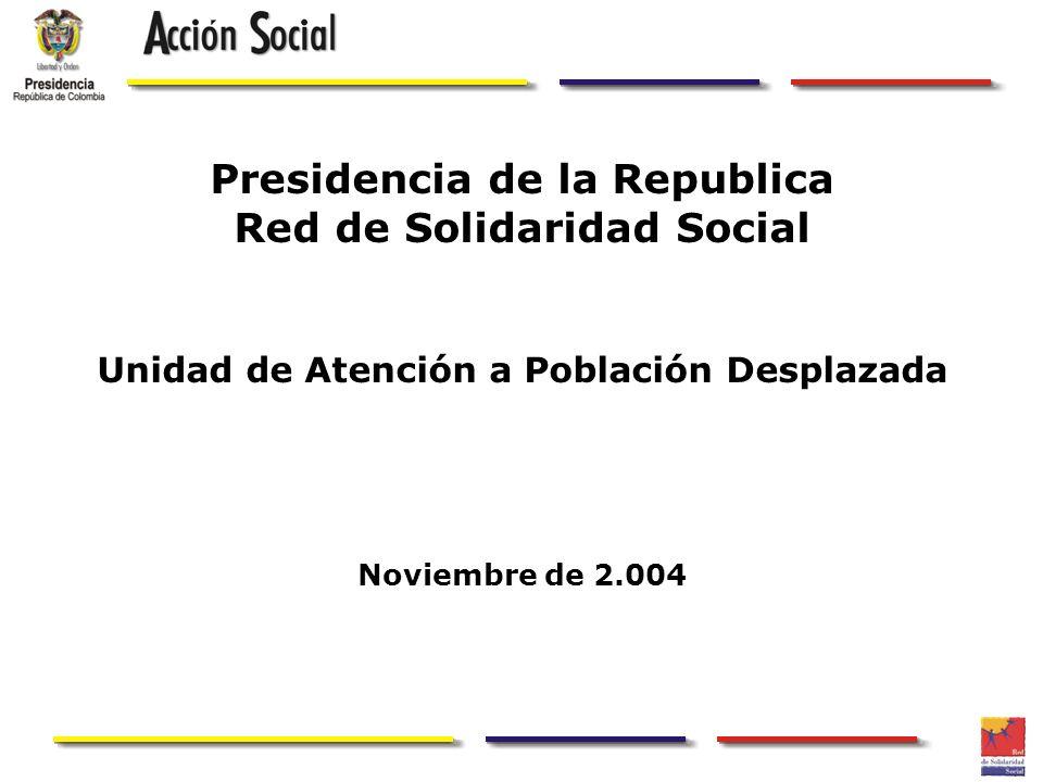 Presidencia de la Republica Red de Solidaridad Social