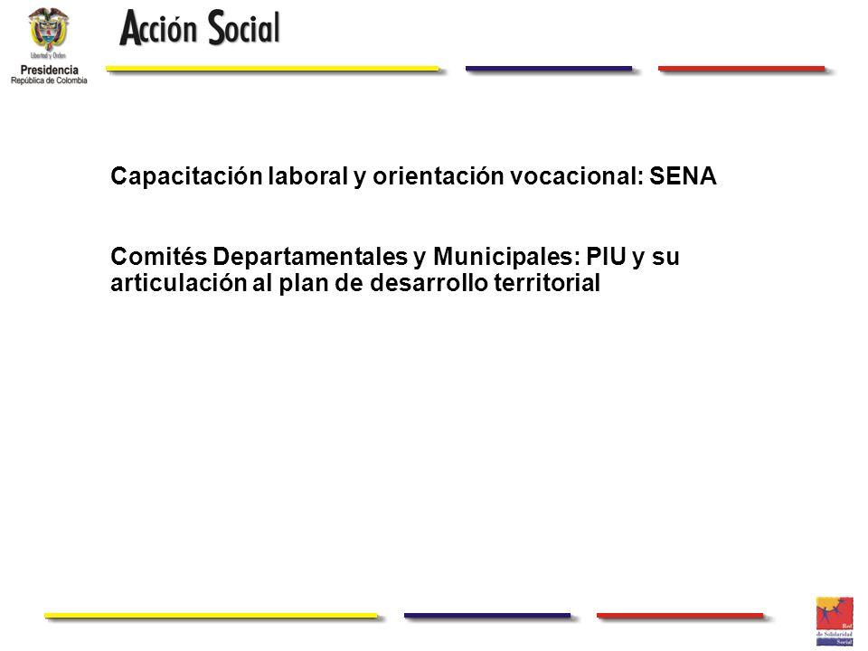 Capacitación laboral y orientación vocacional: SENA