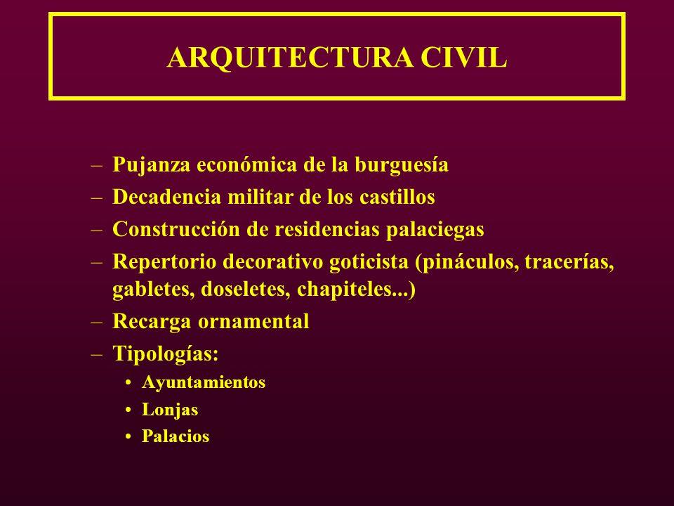 ARQUITECTURA CIVIL Pujanza económica de la burguesía
