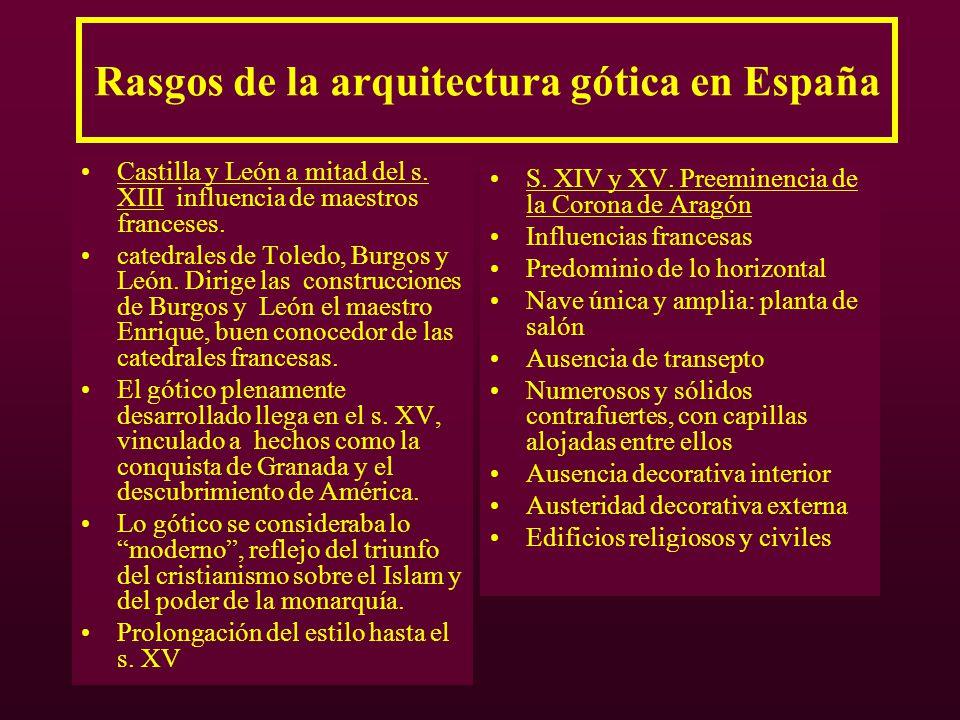 Rasgos de la arquitectura gótica en España