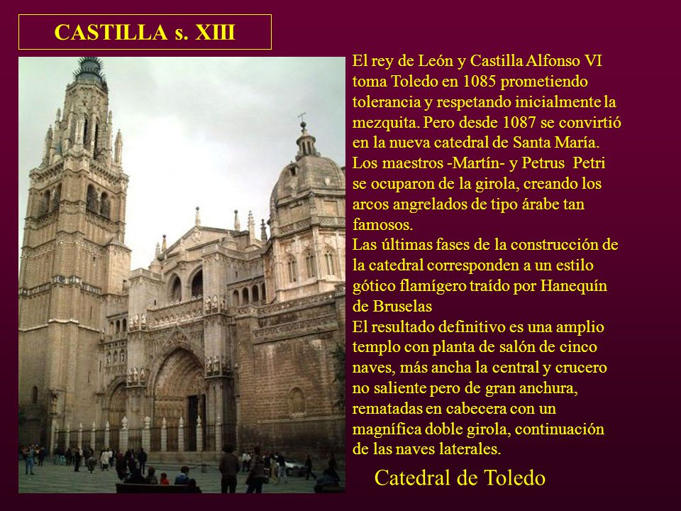 CASTILLA s. XIII Catedral de Toledo