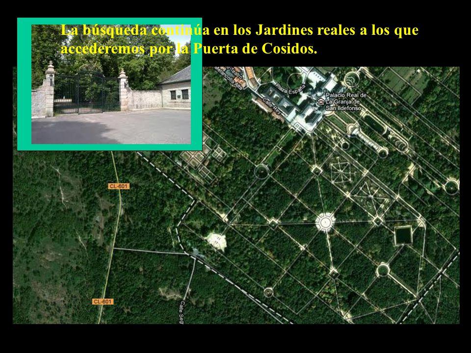 La búsqueda continúa en los Jardines reales a los que accederemos por la Puerta de Cosidos.