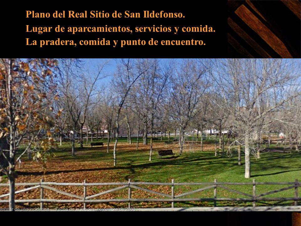 Plano del Real Sitio de San Ildefonso.