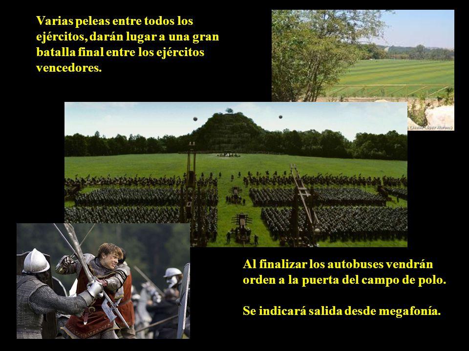 Varias peleas entre todos los ejércitos, darán lugar a una gran batalla final entre los ejércitos vencedores.