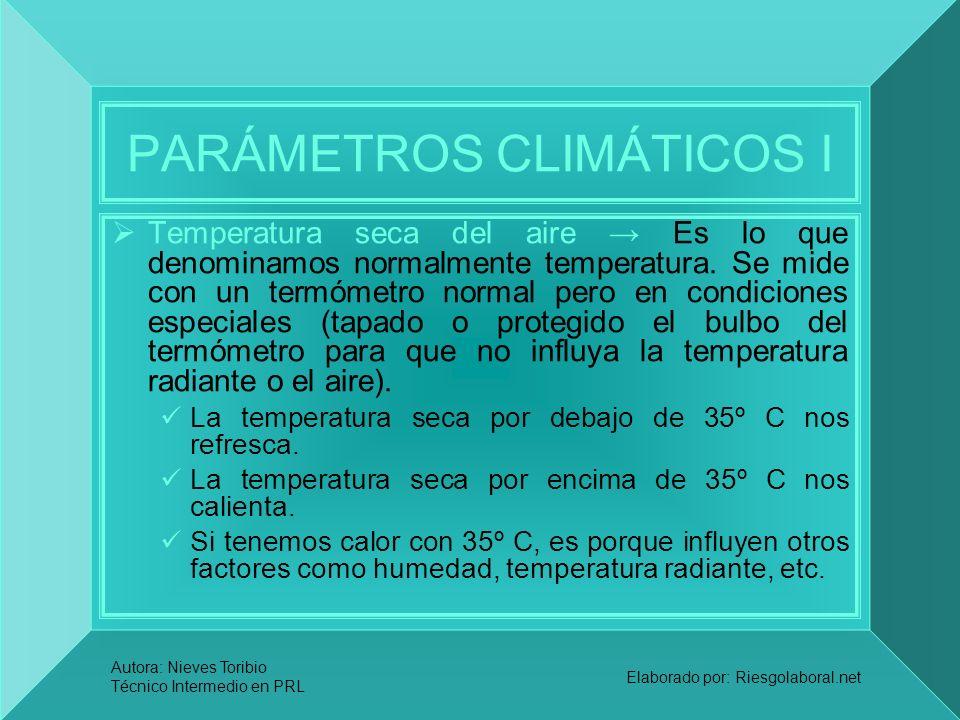 PARÁMETROS CLIMÁTICOS I