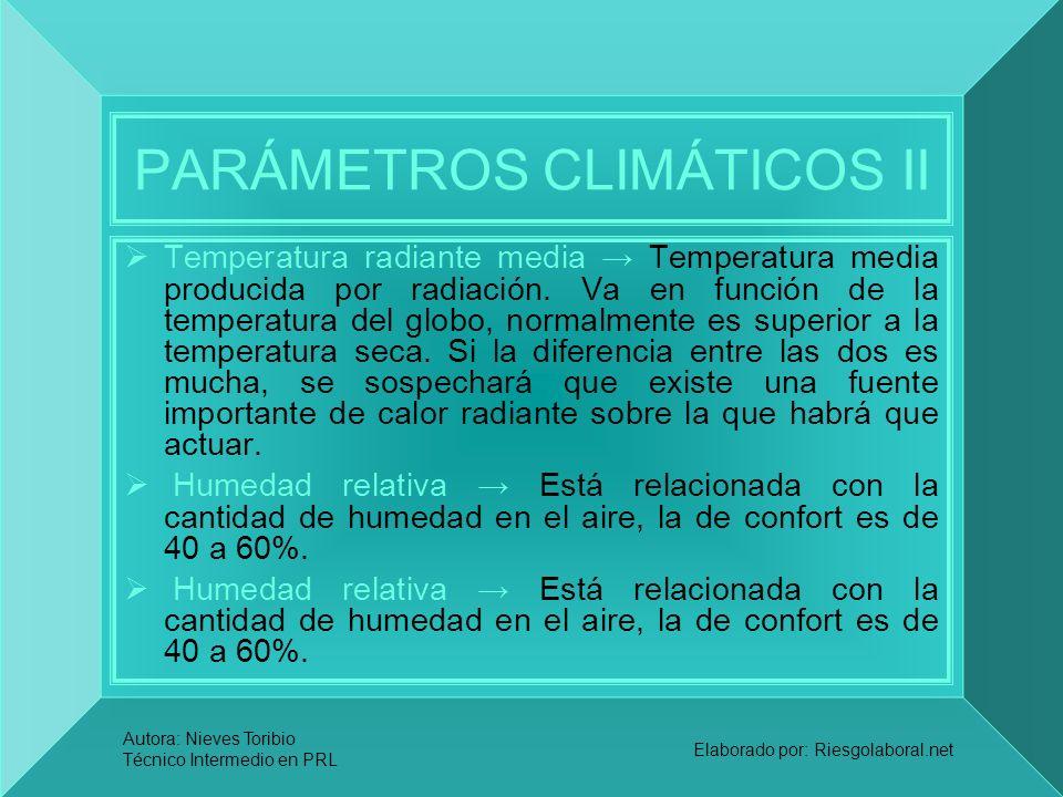 PARÁMETROS CLIMÁTICOS II