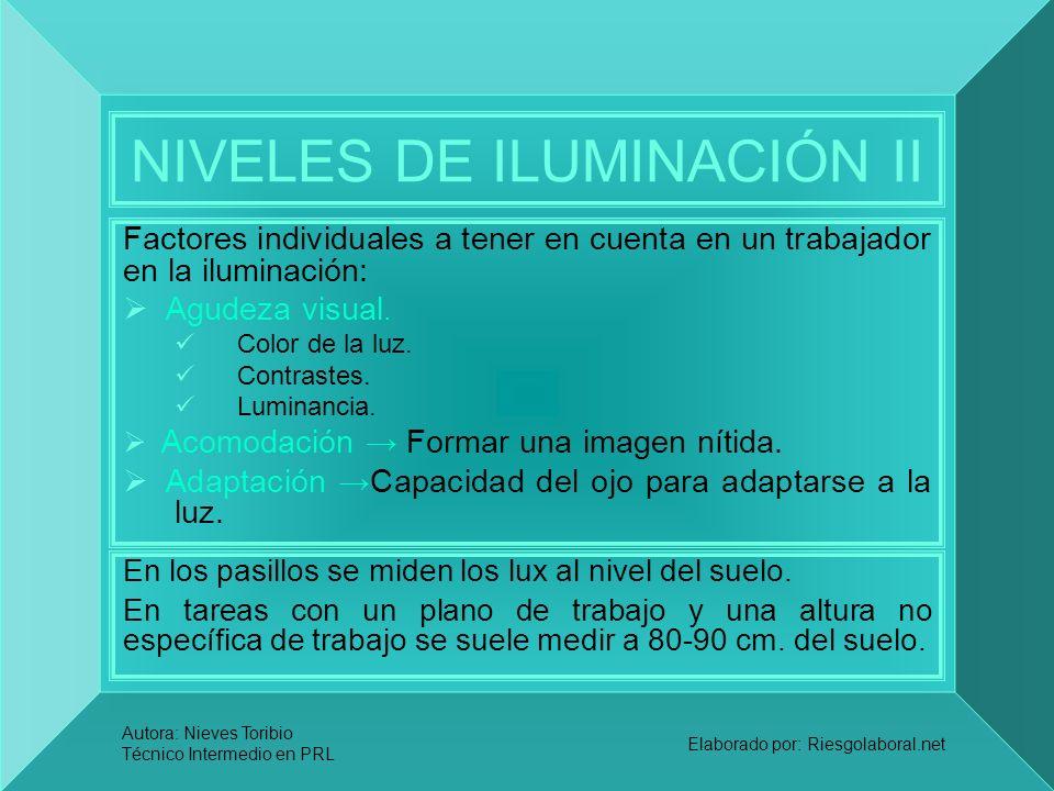 NIVELES DE ILUMINACIÓN II