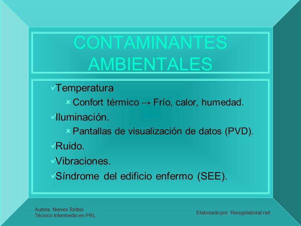 CONTAMINANTES AMBIENTALES