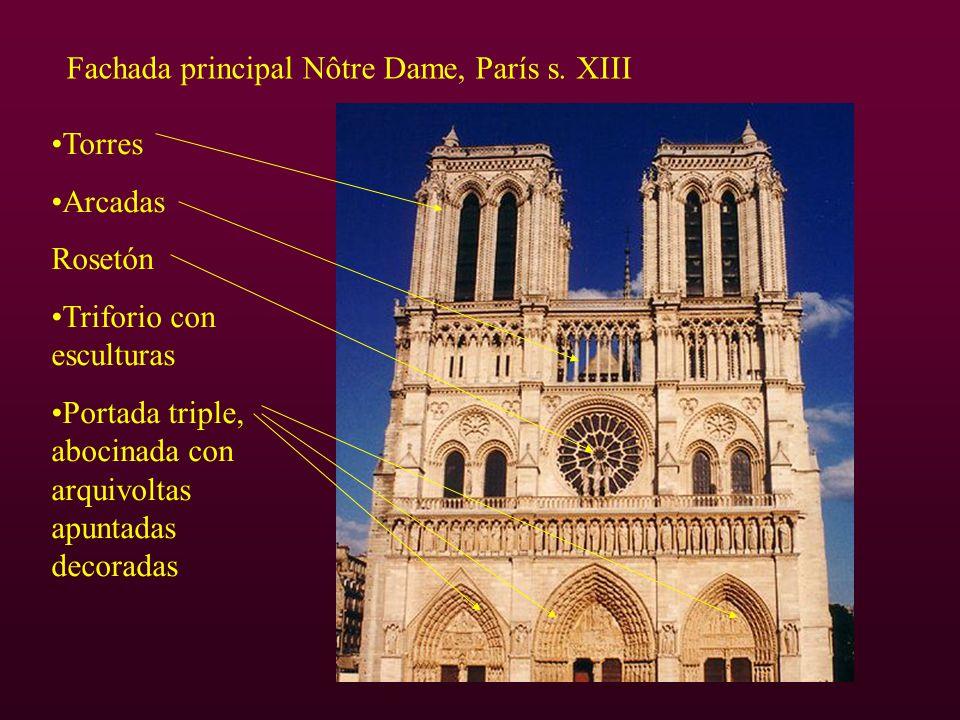 Fachada principal Nôtre Dame, París s. XIII