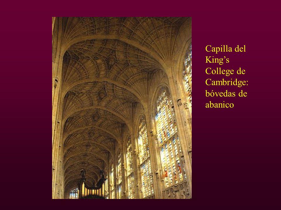 Capilla del King's College de Cambridge: bóvedas de abanico
