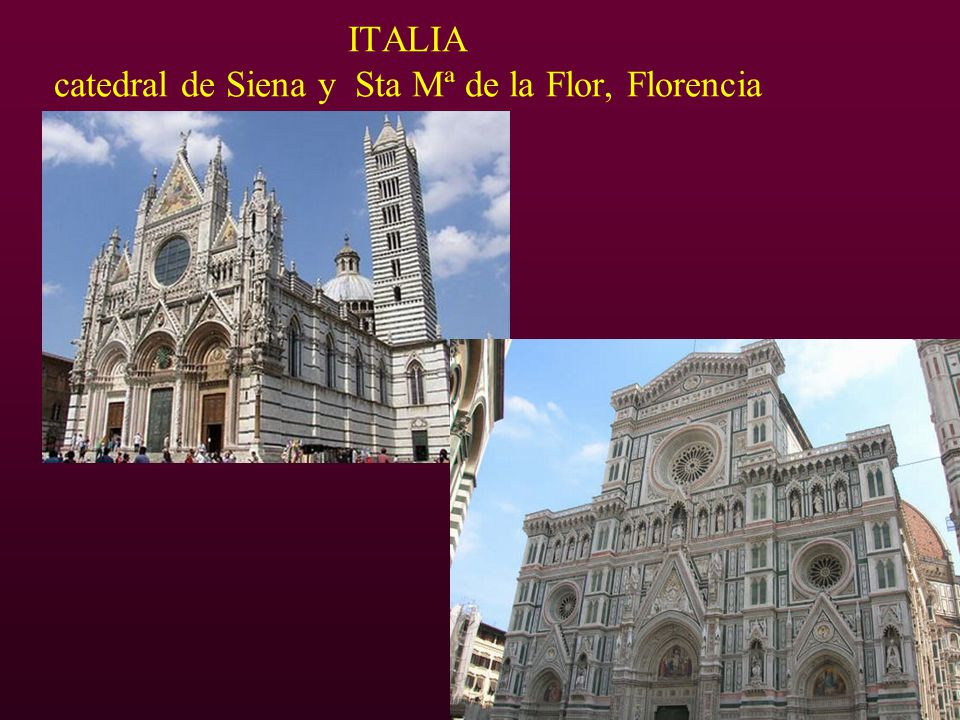 ITALIA catedral de Siena y Sta Mª de la Flor, Florencia