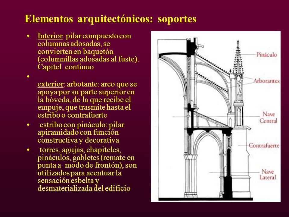Elementos arquitectónicos: soportes
