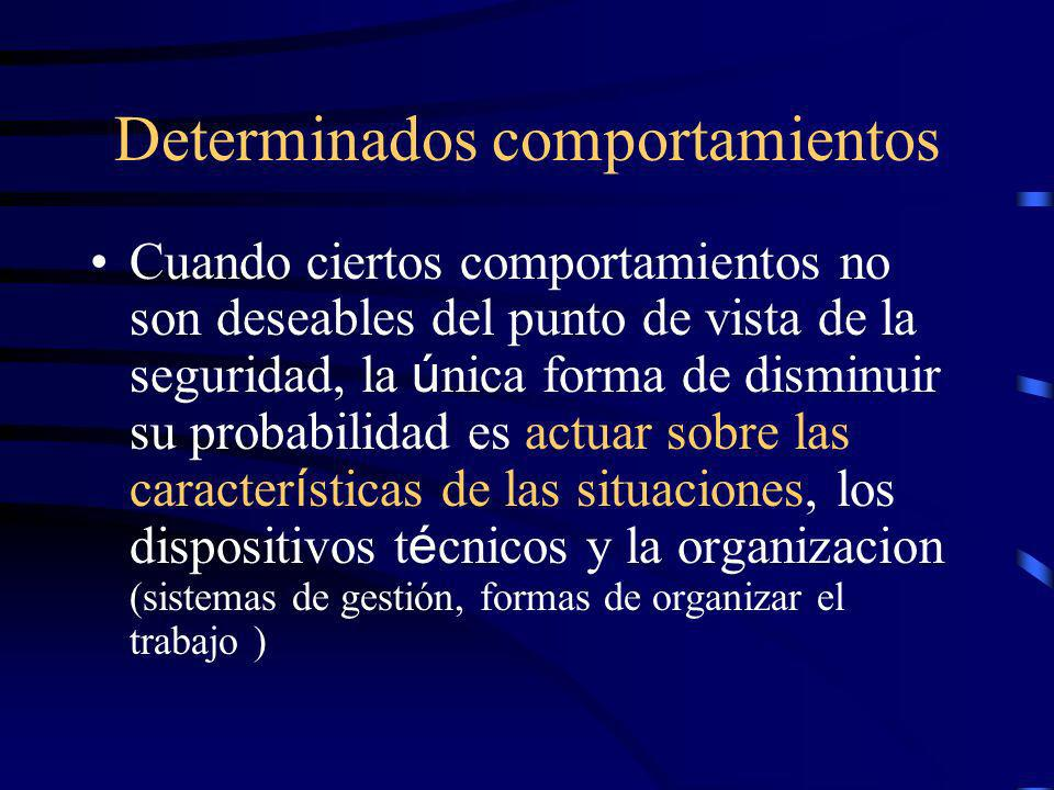 Determinados comportamientos