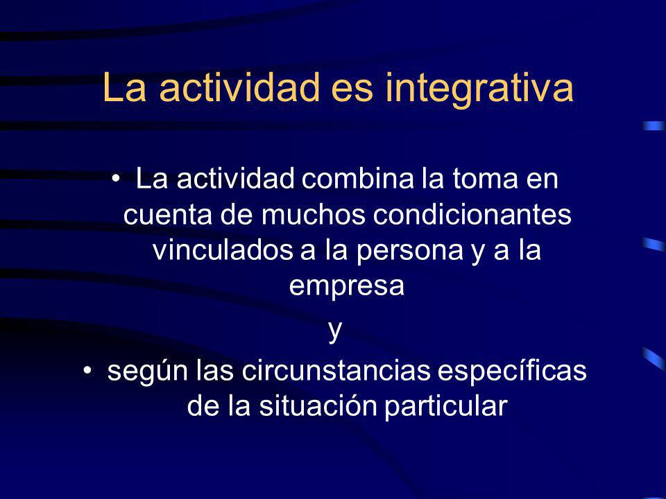 La actividad es integrativa