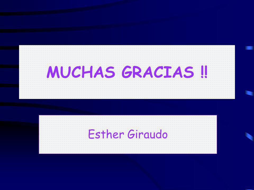 MUCHAS GRACIAS !! Esther Giraudo