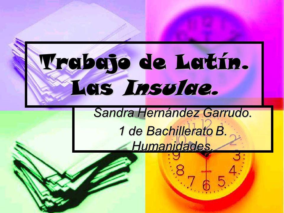 Trabajo de Latín. Las Insulae.