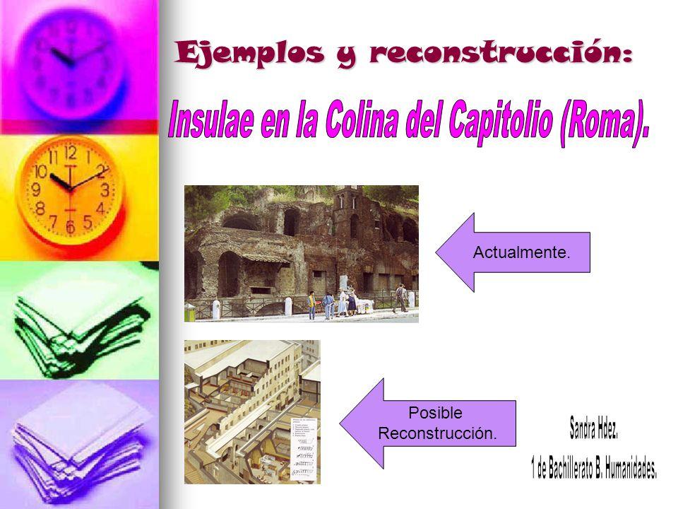 Ejemplos y reconstrucción: