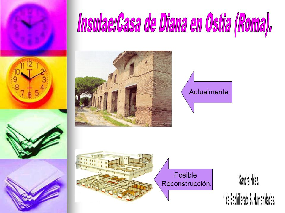 Insulae:Casa de Diana en Ostia (Roma).