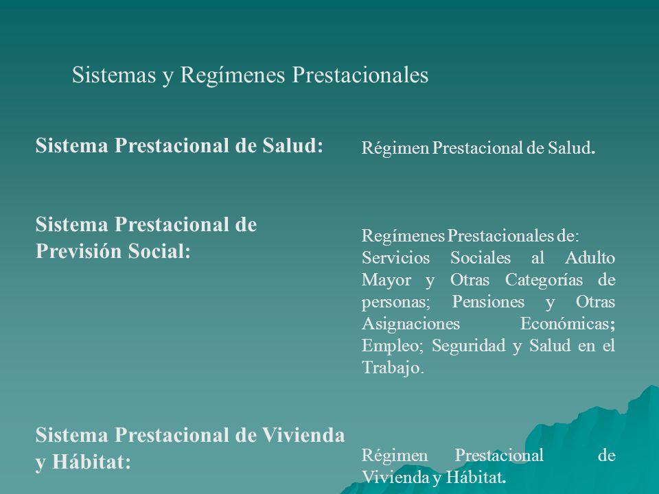 Sistemas y Regímenes Prestacionales