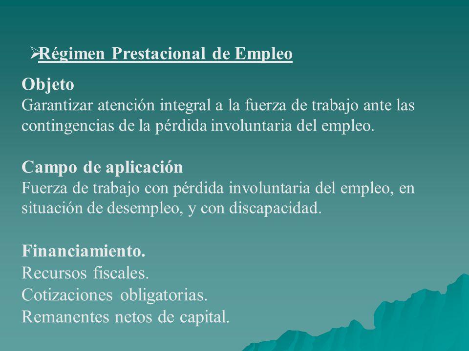 Régimen Prestacional de Empleo